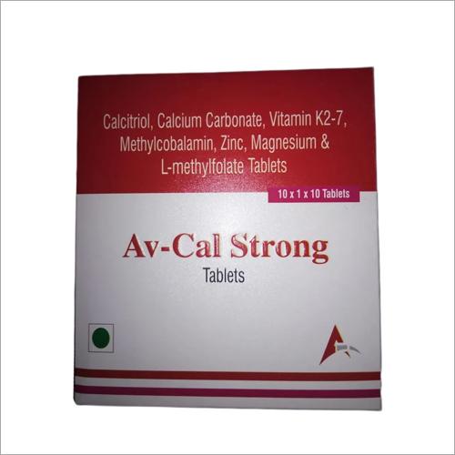 Calcitriol Calcium Carbonate, Vitamin K2-7 Methylcobalamin Zinc Magnesium And L-Methylfolate Tablets