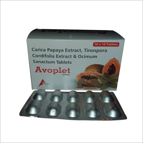 Carica Papaya Extract Tinospora Cordifolia Extract And Ocimum Sanactum Tablets