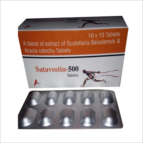 A Blend Of Extract Of Scutellaria Baicalensis And Acacia Catechu Tablets