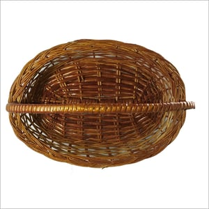 Hand Knitted Cane Basket