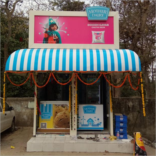 Kiosk Mother Dairy Signage