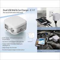 Dual Usb Wall & Car Charger