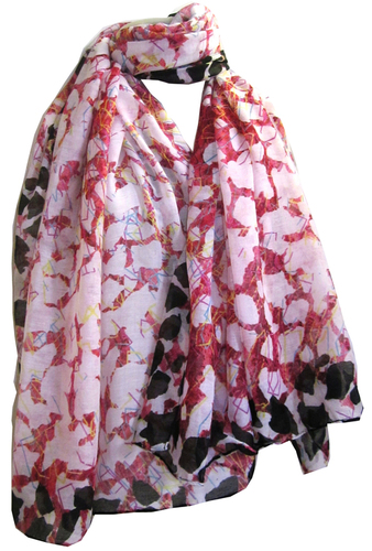 Flower Printed Voile Pareo