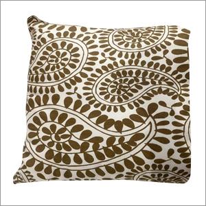 White and Gold Screen Print Cushion