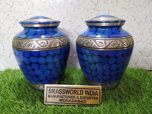 Blur Fire Aluminum Urn By Brassworld India
