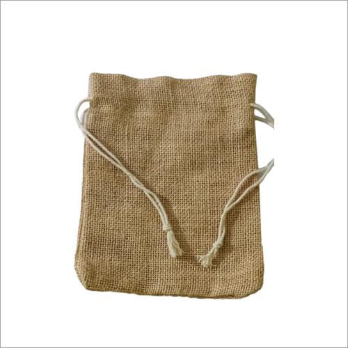 Brown Jute Potli Bag
