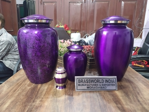 Purple Alloy Cremation Urn / Alloy Urn