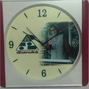 Dhanuka Musical Hourly Chanting Advertisement Clock for Promotion