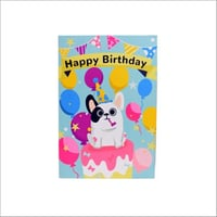 Happy Birthday Musical Singing Voice Greeting Card