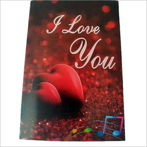 Valentine Day Love Card Musical Recordable Voice Greeting Card