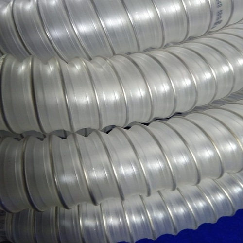 Light Duty Stainless Steel wire Reinforced Inox Polyurethane Food Grade Duct Hose