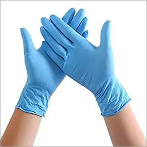 Blue Nylon Disposable Gloves