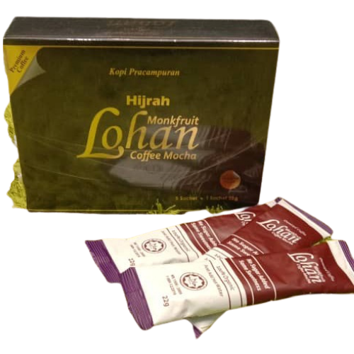 Monkfruit Lohan Coffe Mocha - 9 Sachets Of 22 Grams.