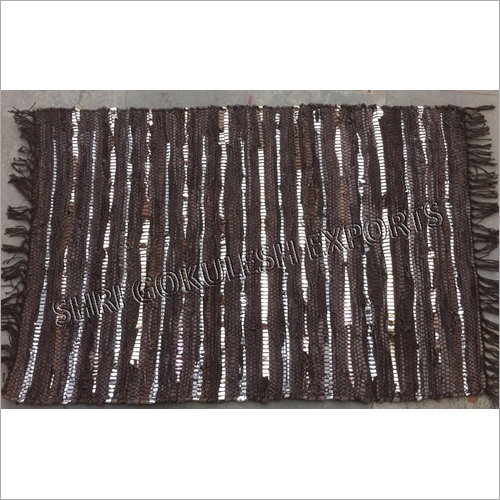 Leather Flat Weave Floor Rugs