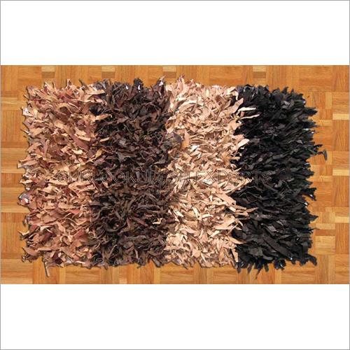 Leather Shaggy Floor Rugs