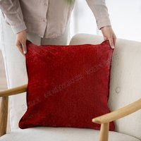 Red Velvet Cushion And Pillows