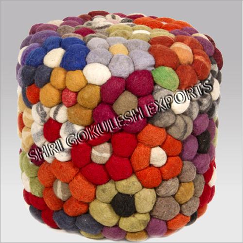 Decorative Wool Poufs And Ottoman