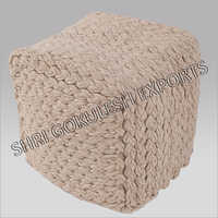 Fancy Wool Poufs And Ottoman