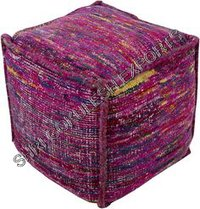 Designer Sari Silk Poufs And Ottoman