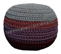 Fancy Knitted Poufs And Ottoman