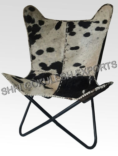 Pure Leather Butterfly Chair With Stand