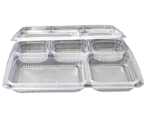 5cp Plastic Meal Tray