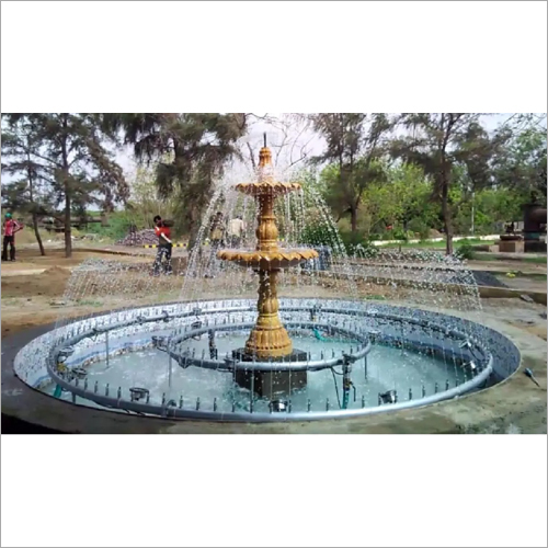 Double Dome Ring Outdoor Fountain