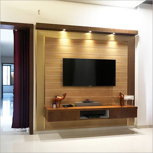 Wooden Wall TV Unit