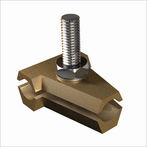 Brass T Clamp with SS Bolt for Copper Conductor