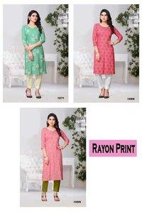 Rayon Print Kurtis Catalogue Set