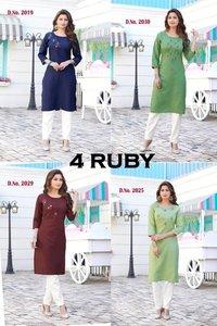 4 Ruby Rayon Kurti Catalogue