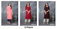 3 Piece Rayon Kurti Catalogue Set