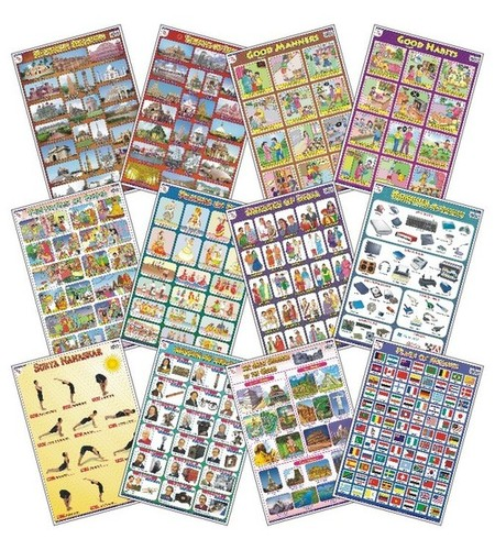 Early Learning Charts Set-6 (Set of 12 Charts)