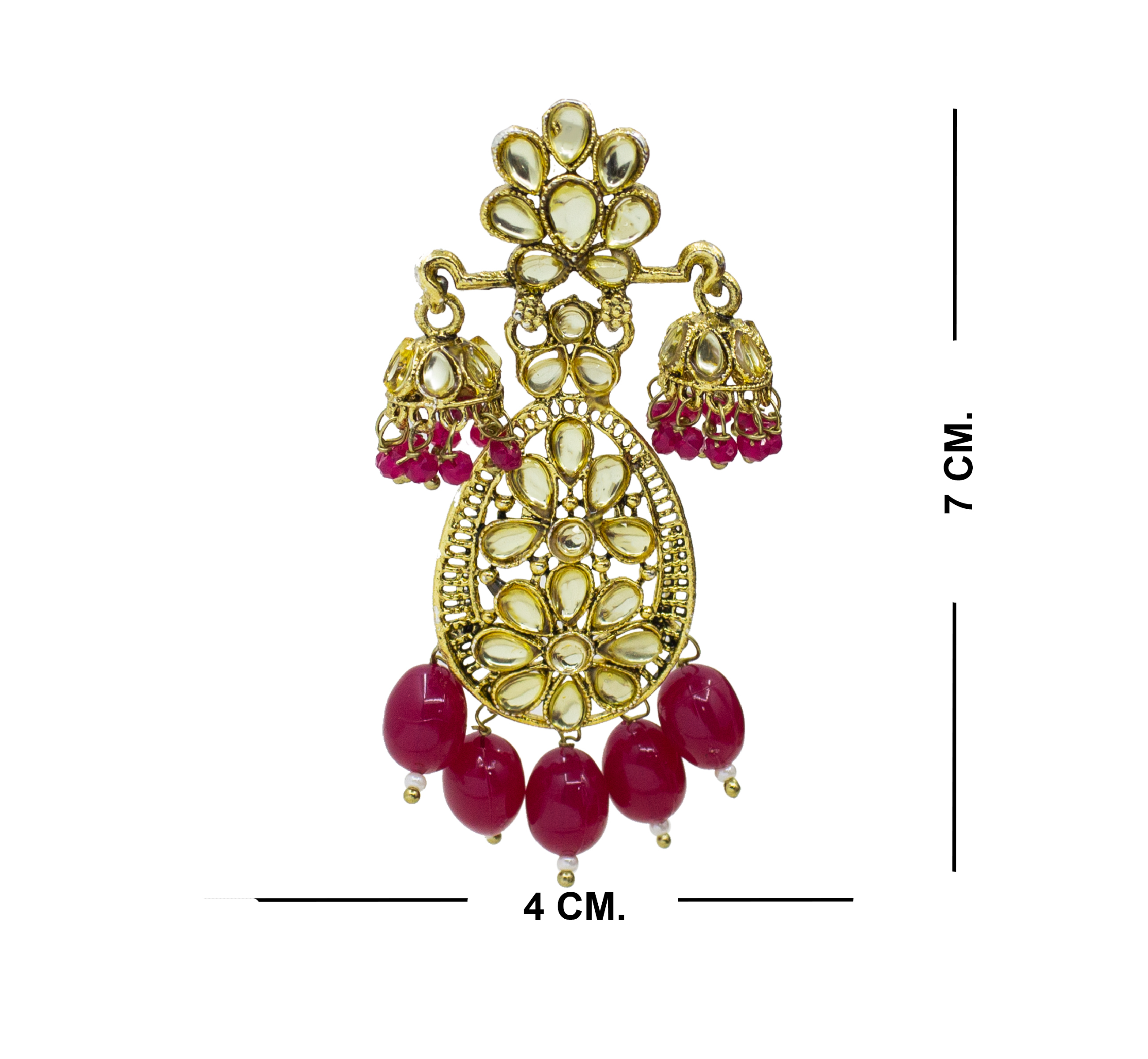 Traditional Party Wear Kundan Earring For Girls & Women