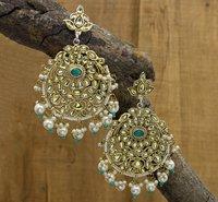 Kundan New Fancy Design Earring