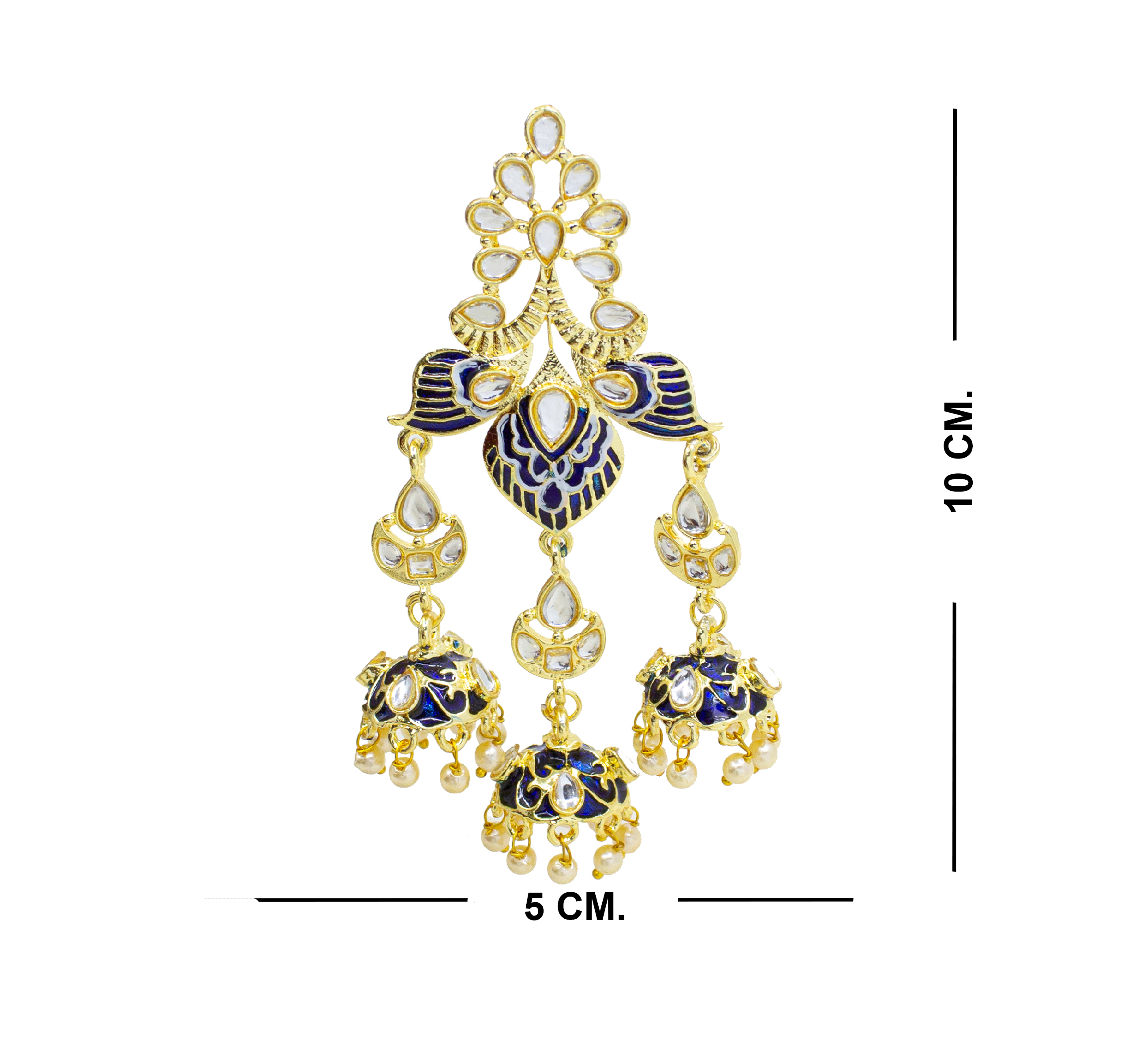 Traditional Party Wear Kundan Minakari Earring For Girls & Women