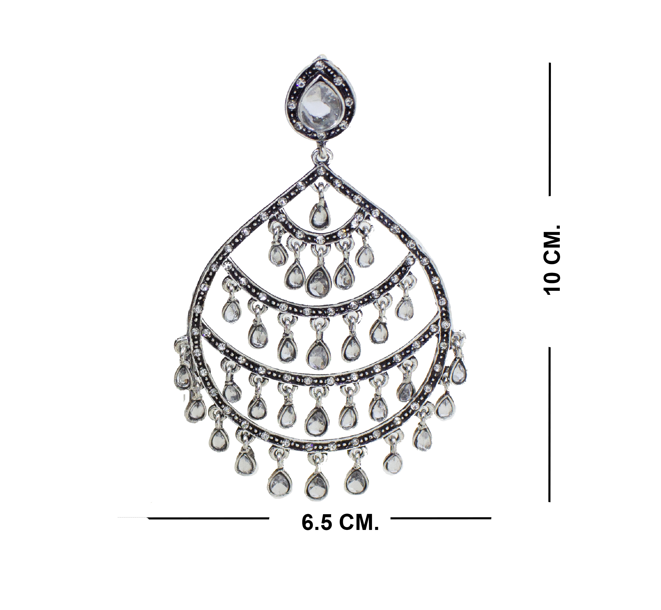 Glamorous Design Oxidised Earring For Girls