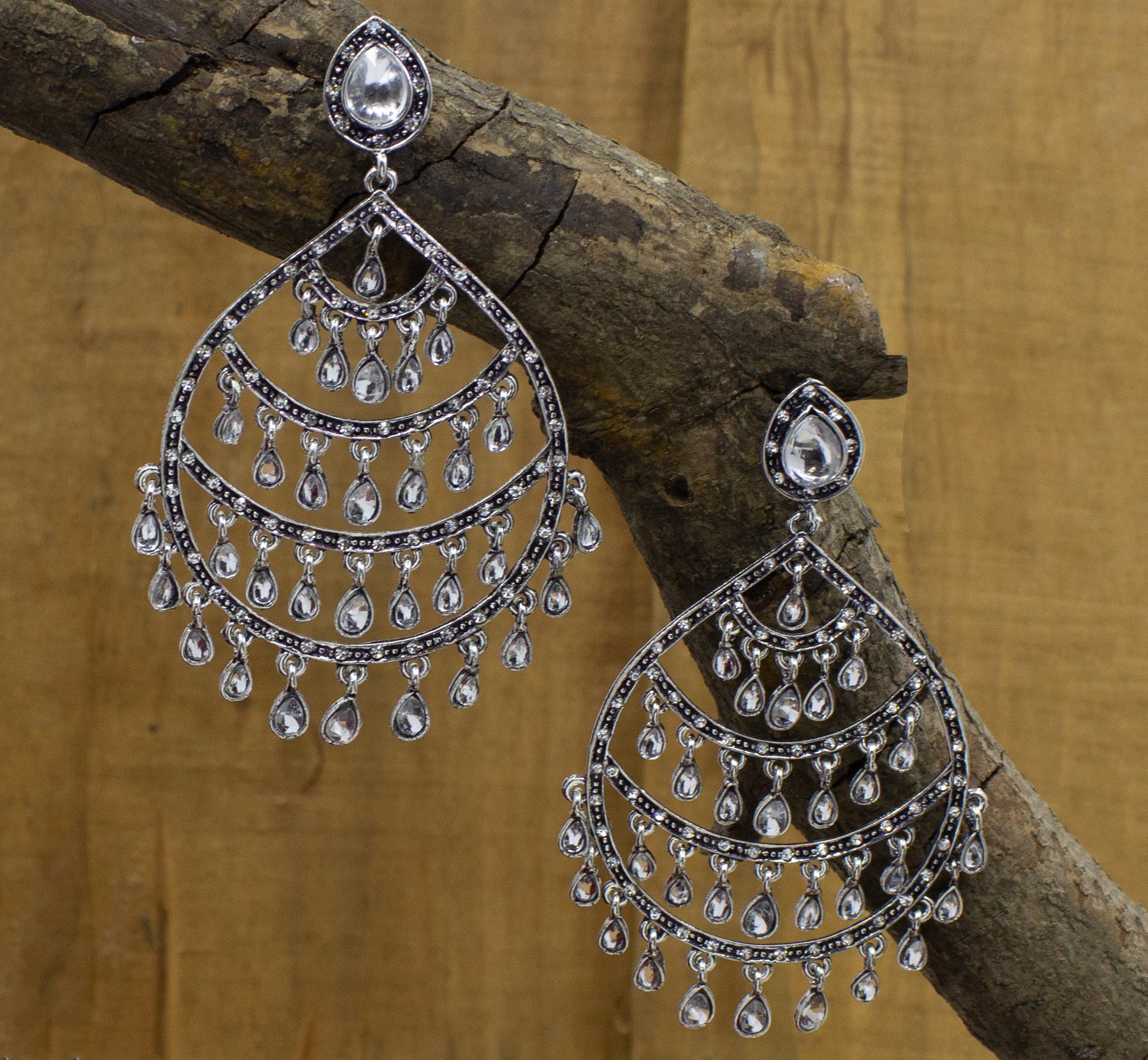 Glamorous Design Oxidised Earring For Girls