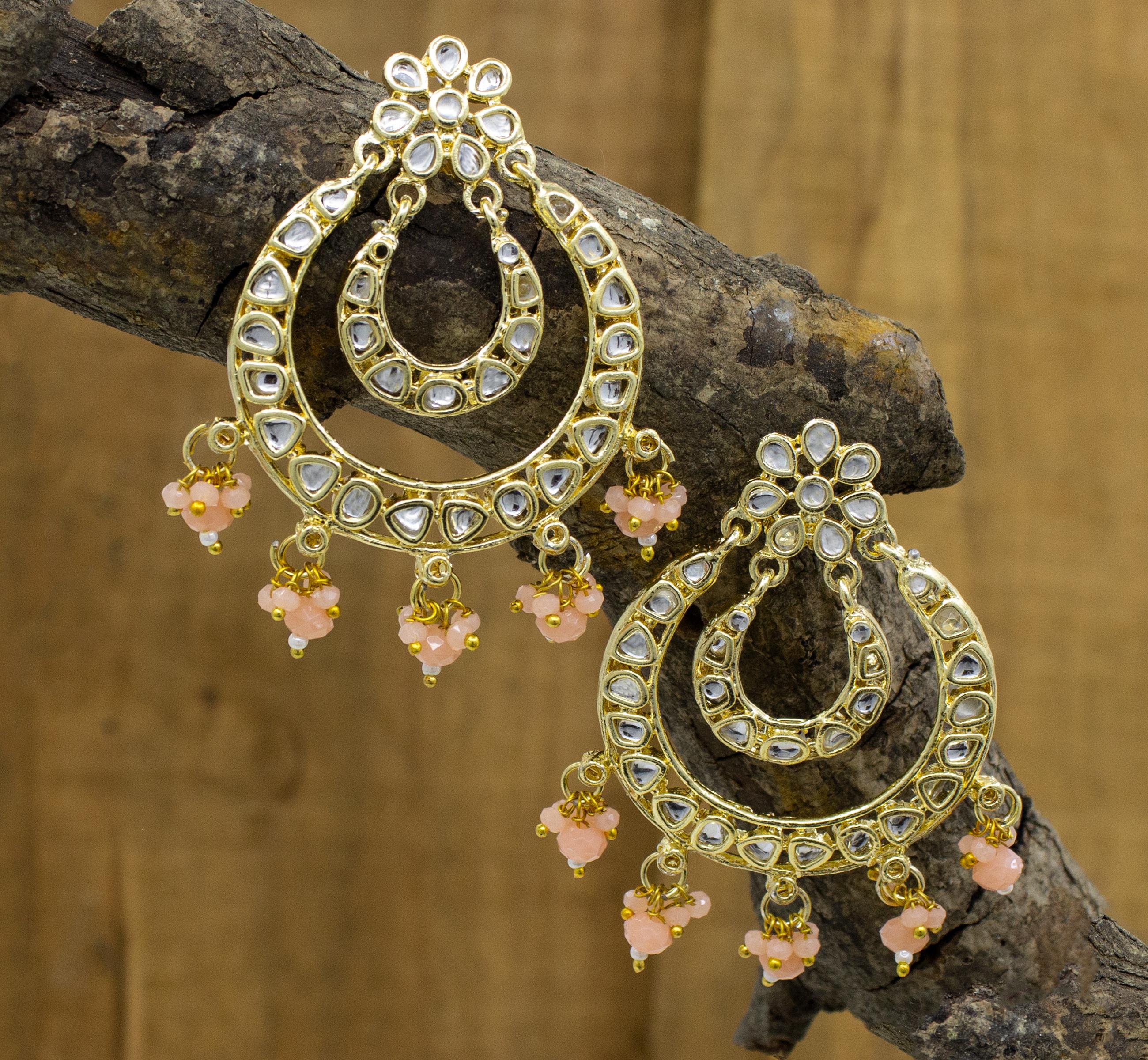 Party Wear Traditional Kundan Earring For Girls & Women