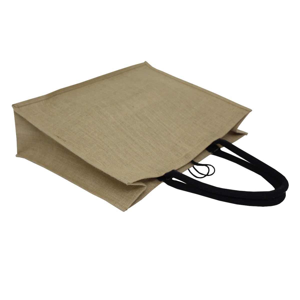 PP Laminated Jute Tote Bag With Front Juco Pocket & Padded Rope Handle