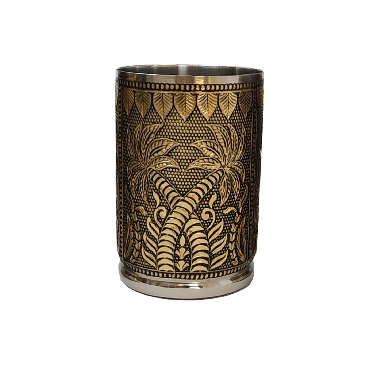 Designer Handcraft Stainless Gold Glass