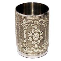 Designer Handcraft Stainless Silver Glass