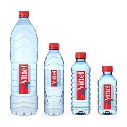 MINERAL DRINKING WATER PERRIER , EVIAN , SAN PELLEGRINO , VOLVIC , VITTEL e.t.c