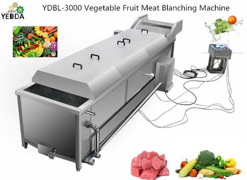 Conveyor vegetable blanching machine potato blanching machine bean blancher machine