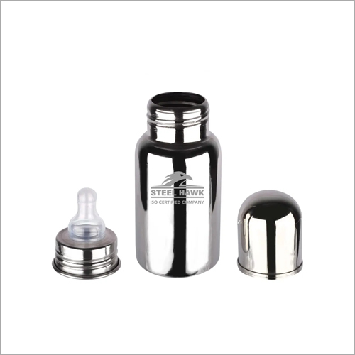 200 ml Stainless Steel Flat Feeding Bottle