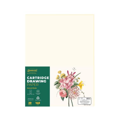 Sundaram Cartridge Drawing Paper - A/4 - 20 Sheets (DR-9)