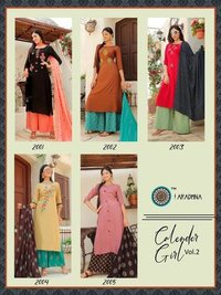 Calender Girl Vol-2 Rayon Kurtis Set