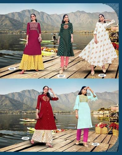 Fashion Festive Vol-1 Chanderi Cora Kurtis Set