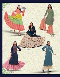 Florence Vol-2 Rayon Cotton Kurti Wholeseller