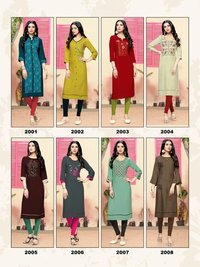 Livaa Vol-2 Rayon Kurti Catalog Set